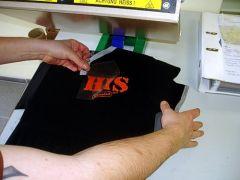 Fertiges T-Shirt nach der Thermopresse